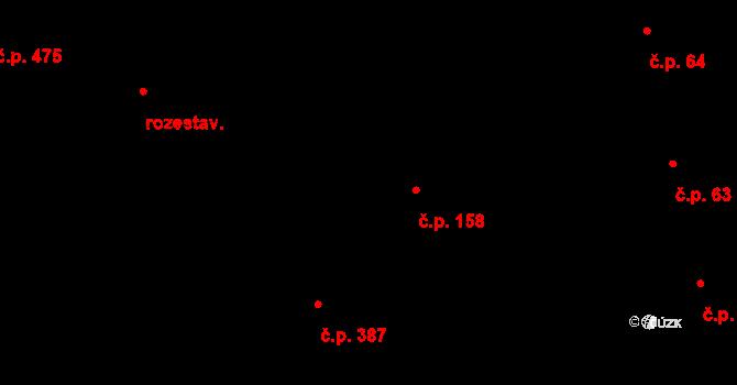 Jistebník 158 na parcele st. 128/3 v KÚ Jistebník, Katastrální mapa