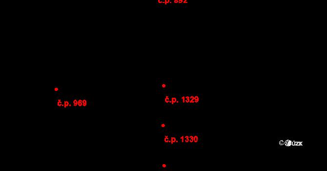 Černice 1329, Plzeň na parcele st. 266/66 v KÚ Černice, Katastrální mapa