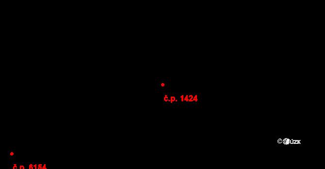 Poruba 1424, Ostrava na parcele st. 1046 v KÚ Poruba, Katastrální mapa