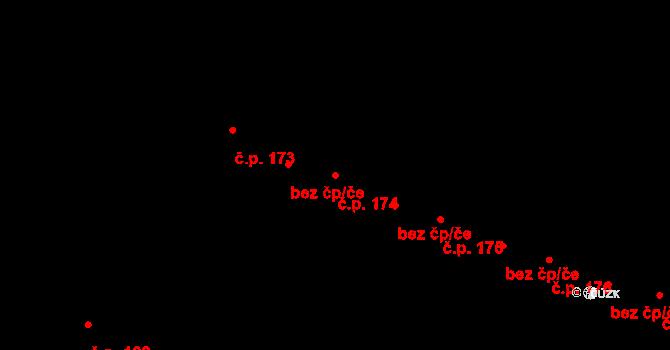 Nedvězí 174, Olomouc na parcele st. 235 v KÚ Nedvězí u Olomouce, Katastrální mapa