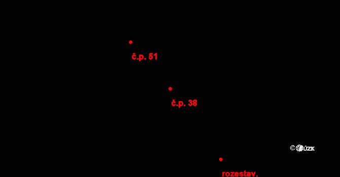 Stračovská Lhota 38, Mžany na parcele st. 162 v KÚ Stračovská Lhota, Katastrální mapa