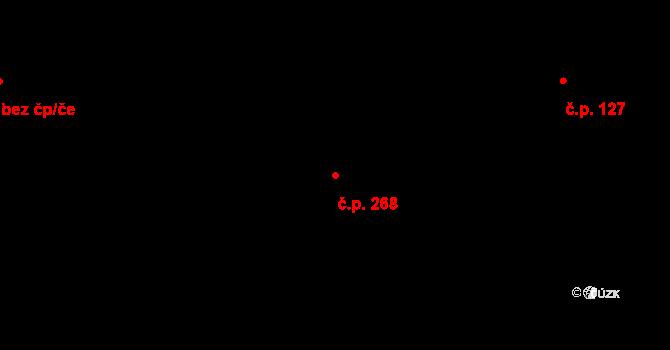 Pohled 268 na parcele st. 154/2 v KÚ Pohled, Katastrální mapa