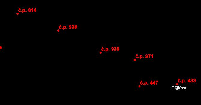Bojkovice 930 na parcele st. 1242 v KÚ Bojkovice, Katastrální mapa