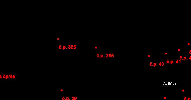 Radnice 265 na parcele st. 257 v KÚ Radnice u Rokycan, Katastrální mapa