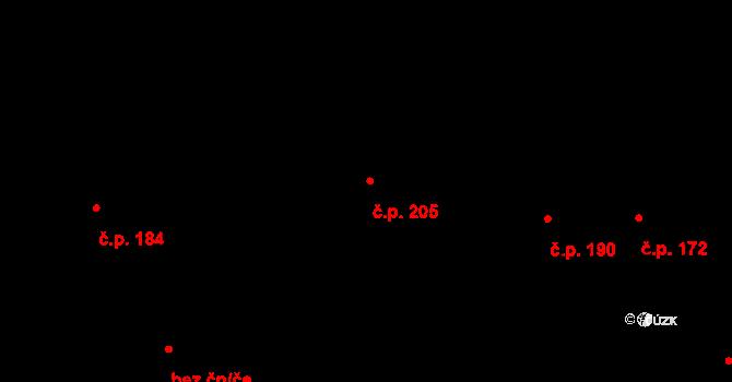 Cvikov I 205, Cvikov na parcele st. 569 v KÚ Cvikov, Katastrální mapa