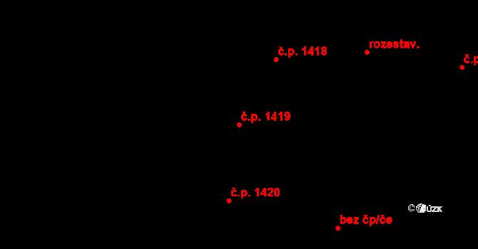 Dobrá Voda u Českých Budějovic 1419 na parcele st. 3427 v KÚ Dobrá Voda u Českých Budějovic, Katastrální mapa