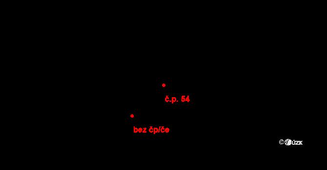 Nová Ves u Nového Města na Moravě 54 na parcele st. 408/1 v KÚ Nová Ves u Nového Města na Moravě, Katastrální mapa