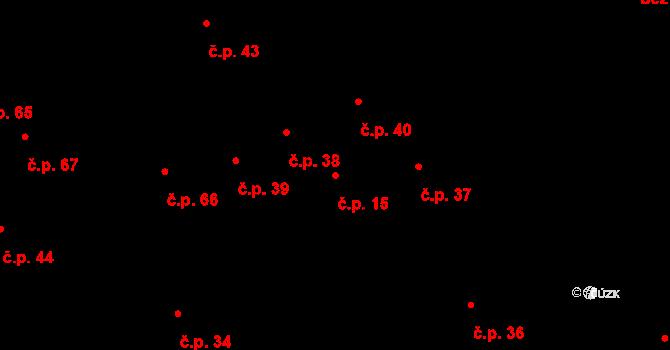 Kamenné Zboží 15 na parcele st. 16/2 v KÚ Kamenné Zboží, Katastrální mapa
