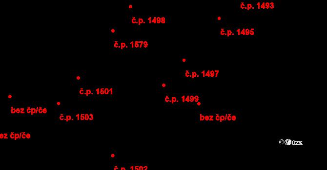 Předměstí 1499, Opava na parcele st. 957/21 v KÚ Opava-Předměstí, Katastrální mapa