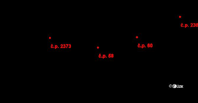 Chodov 58, Praha na parcele st. 13 v KÚ Chodov, Katastrální mapa