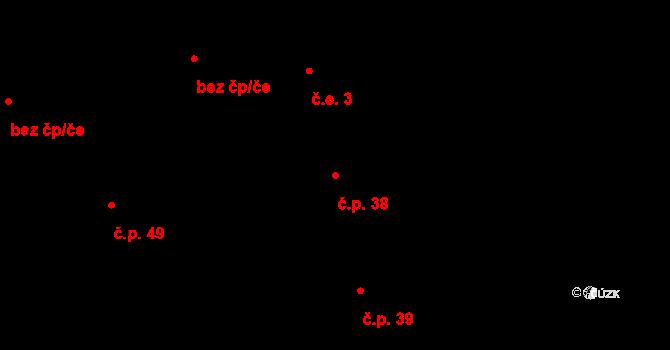 Janovická Lhota 38, Uhlířské Janovice na parcele st. 56 v KÚ Janovická Lhota, Katastrální mapa