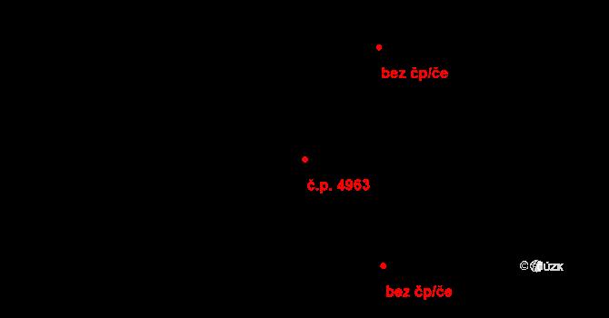 Zlín 4963 na parcele st. 7145/1 v KÚ Zlín, Katastrální mapa