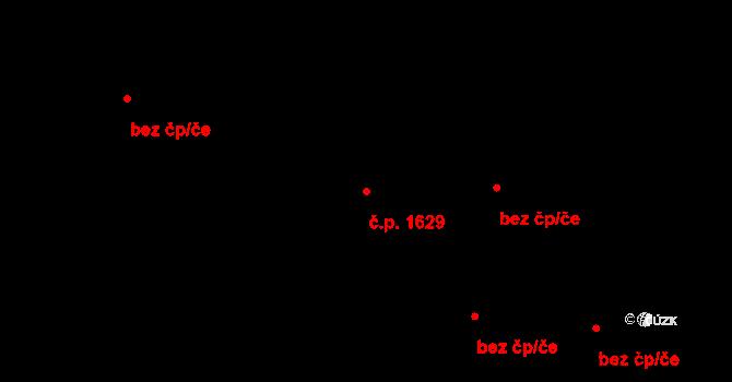 Roztoky 1629 na parcele st. 3161/7 v KÚ Žalov, Katastrální mapa