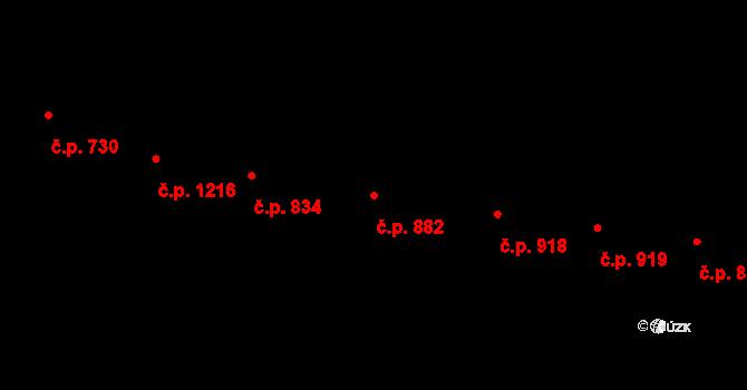 Vršovice 882, Praha na parcele st. 1997 v KÚ Vršovice, Katastrální mapa