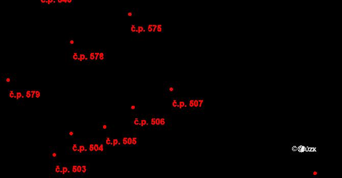 Nový Jičín 507 na parcele st. 44 v KÚ Nový Jičín-Horní Předměstí, Katastrální mapa
