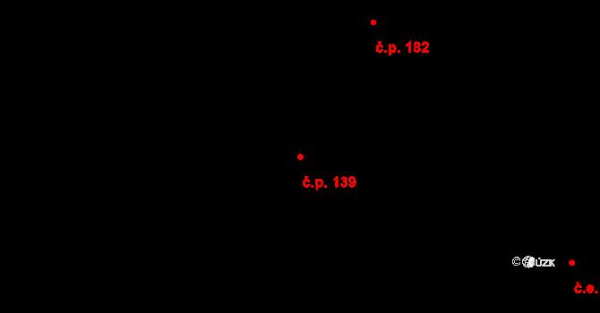 Zásada 139 na parcele st. 171 v KÚ Zásada, Katastrální mapa