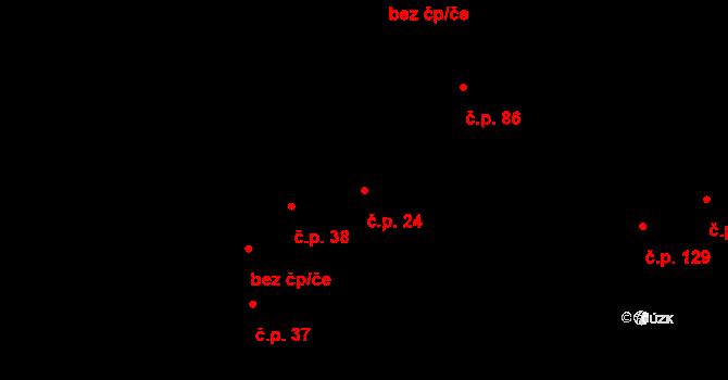 Hudcov 24, Teplice na parcele st. 33/1 v KÚ Hudcov, Katastrální mapa