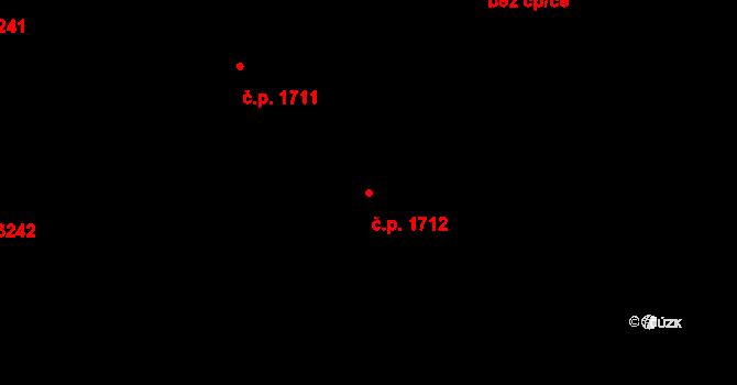 Most 1712 na parcele st. 8269 v KÚ Most II, Katastrální mapa