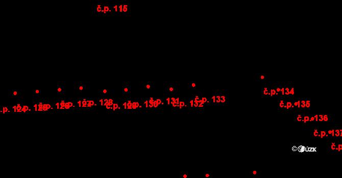 Doubravice 132, Pardubice, Katastrální mapa