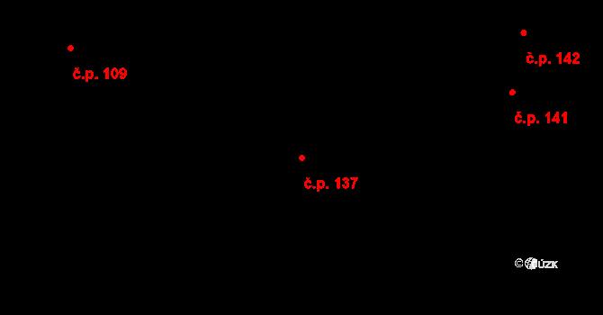 Dobré Pole 137 na parcele st. 289 v KÚ Dobré Pole, Katastrální mapa