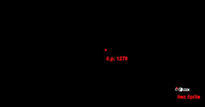 Hostivař 1279, Praha na parcele st. 370/29 v KÚ Hostivař, Katastrální mapa