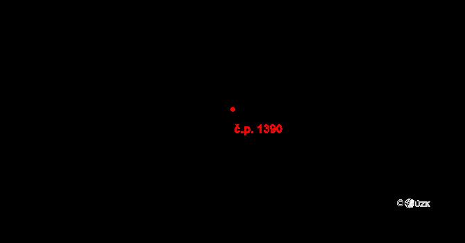 Michle 1390, Praha na parcele st. 1209/3 v KÚ Michle, Katastrální mapa