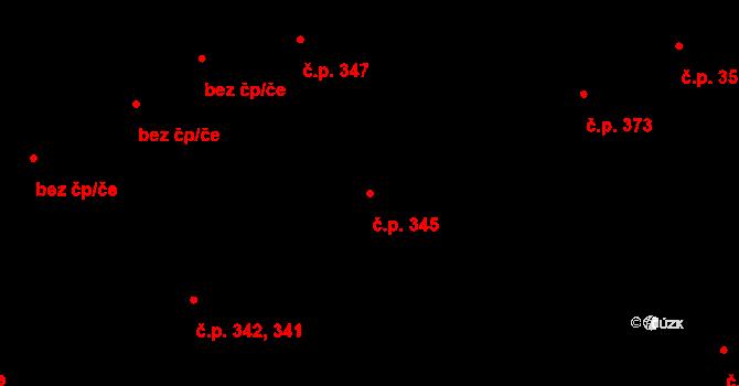 Hradec Králové 345 na parcele st. 478 v KÚ Hradec Králové, Katastrální mapa