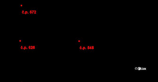 Mladcová 548, Zlín na parcele st. 983 v KÚ Mladcová, Katastrální mapa