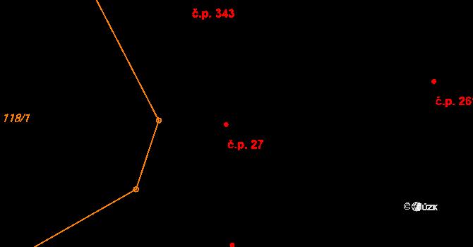 Dlouhý Most 27 na parcele st. 352 v KÚ Dlouhý Most, Katastrální mapa