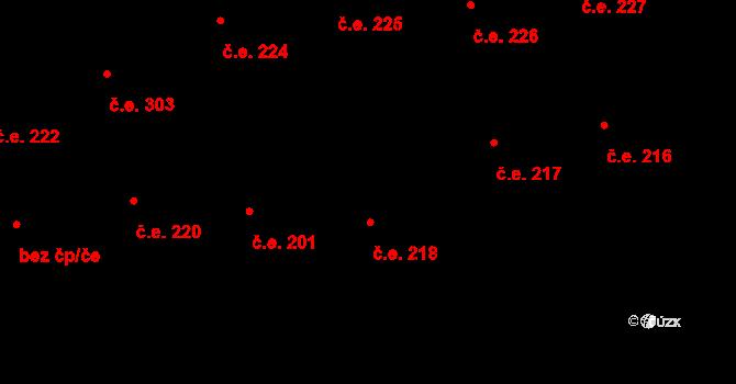 Malšovice 218, Hradec Králové na parcele st. 826 v KÚ Malšovice u Hradce Králové, Katastrální mapa