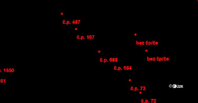 Bílé Předměstí 658, Pardubice na parcele st. 2721 v KÚ Pardubice, Katastrální mapa
