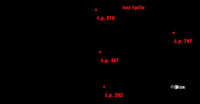 Zábrdovice 147, Brno na parcele st. 499 v KÚ Zábrdovice, Katastrální mapa