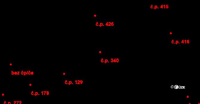 Vinohrady 340, Praha na parcele st. 151 v KÚ Vinohrady, Katastrální mapa
