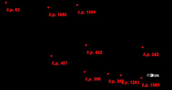 Severní Předměstí 442, Plzeň na parcele st. 10589/1 v KÚ Plzeň, Katastrální mapa