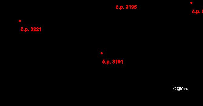 Smíchov 3191, Praha na parcele st. 2885/24 v KÚ Smíchov, Katastrální mapa