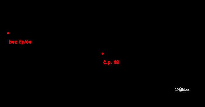 Rokytnice v Orlických horách 18 na parcele st. 91 v KÚ Dolní Rokytnice v Orlických horách, Katastrální mapa