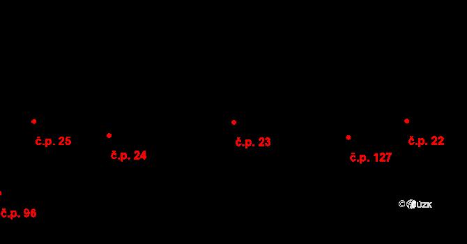 Ivaň 23 na parcele st. 36 v KÚ Ivaň na Hané, Katastrální mapa