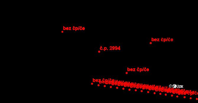 Jižní Předměstí 2994, Plzeň na parcele st. 8447/214 v KÚ Plzeň, Katastrální mapa