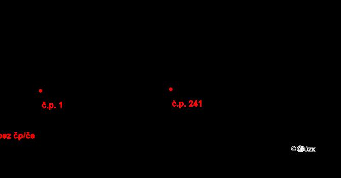 Nová Role 241 na parcele st. 282 v KÚ Nová Role, Katastrální mapa
