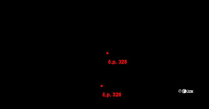 Minice 325, Kralupy nad Vltavou na parcele st. 404 v KÚ Minice u Kralup nad Vltavou, Katastrální mapa