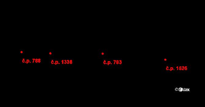 Vršovice 783, Praha na parcele st. 1293 v KÚ Vršovice, Katastrální mapa