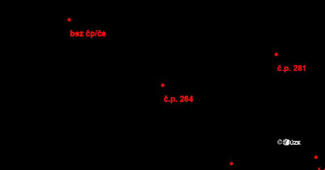 Čisovice 264 na parcele st. 1017 v KÚ Čisovice, Katastrální mapa