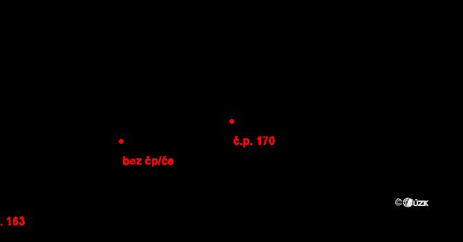 Studánka 170 na parcele st. 220 v KÚ Studánka u Tachova, Katastrální mapa