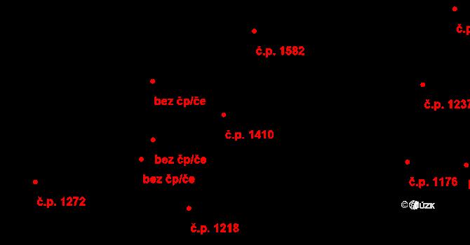 Vlašim 1410 na parcele st. 2464 v KÚ Vlašim, Katastrální mapa