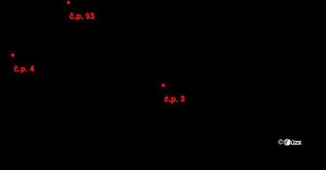 Lužná 3 na parcele st. 183 v KÚ Lužná u Rakovníka, Katastrální mapa