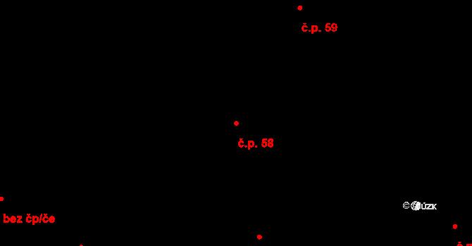 Sedlejov 58 na parcele st. 63 v KÚ Sedlejov, Katastrální mapa