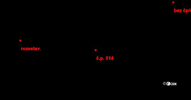 Stará Huť 514 na parcele st. 760 v KÚ Stará Huť, Katastrální mapa