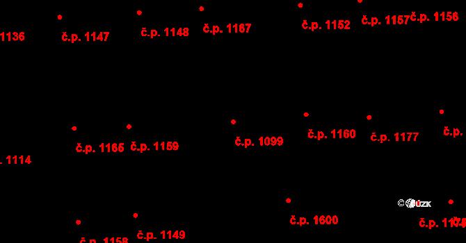 Švermov 1099, Kladno na parcele st. 137/2 v KÚ Hnidousy, Katastrální mapa
