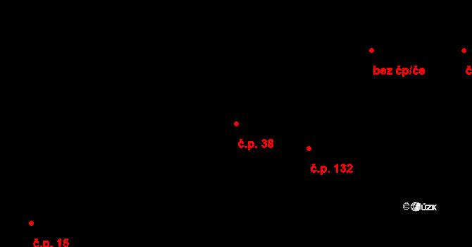 Rabštejnská Lhota 38 na parcele st. 82/1 v KÚ Rabštejnská Lhota, Katastrální mapa