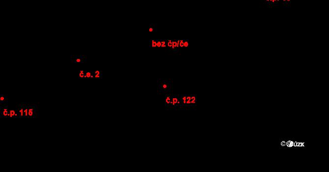 Doubrava 122, Aš na parcele st. 144 v KÚ Doubrava u Aše, Katastrální mapa